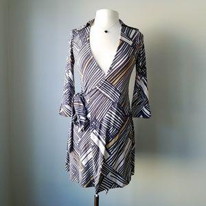 DVF | Silk Lindsey Mini Tunic Wrap Dress Sz 0 XS